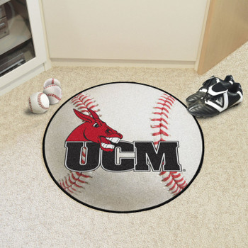 "27"" University of Central Missouri Baseball Style Round Mat"