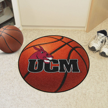 "27"" University of Central Missouri Basketball Style Round Mat"