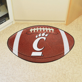 "20.5"" x 32.5"" University of Cincinnati Football Shape Mat"
