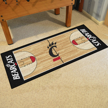 "30"" x 72"" University of Cincinnati NCAA Basketball Rectangle Runner Mat"