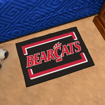 "19"" x 30"" University of Cincinnati Black Rectangle Starter Mat"