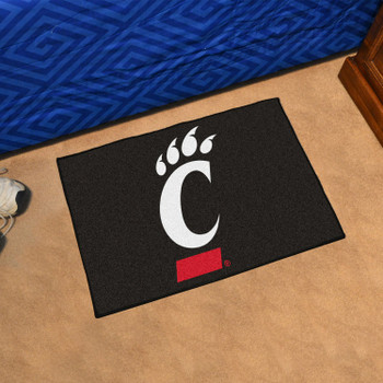 "19"" x 30"" University of Cincinnati Bearcats Black Rectangle Starter Mat"