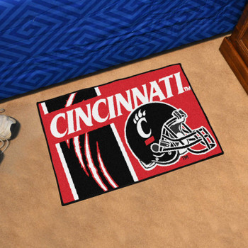 "19"" x 30"" University of Cincinnati Football Helmet Uniform Rectangle Starter Mat"