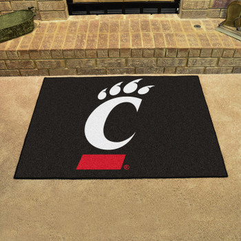 "33.75"" x 42.5"" University of Cincinnati Bearcats All Star Black Rectangle Mat"