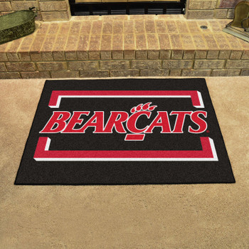 "33.75"" x 42.5"" University of Cincinnati All Star Black Rectangle Mat"