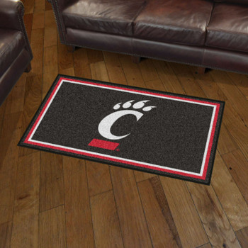 3' x 5' University of Cincinnati Black Rectangle Rug