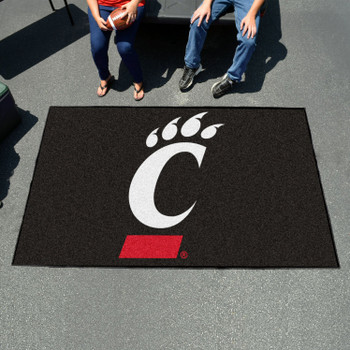 "59.5"" x 94.5"" University of Cincinnati Black Rectangle Ulti Mat"