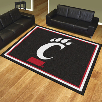 8' x 10' University of Cincinnati Black Rectangle Rug