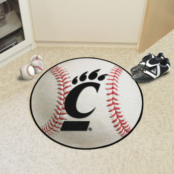 "27"" University of Cincinnati Baseball Style Round Mat"