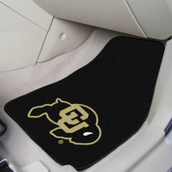University of Colorado Black Carpet Car Mat, Set of 2