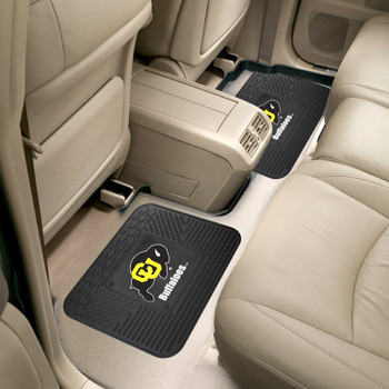 University of Colorado Heavy Duty Vinyl Car Utility Mats, Set of 2