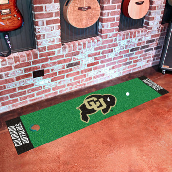 "18"" x 72"" University of Colorado Putting Green Runner Mat"