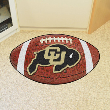 "20.5"" x 32.5"" University of Colorado Football Shape Mat"