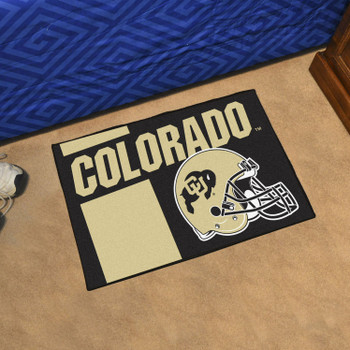 "19"" x 30"" University of Colorado Uniform Black Rectangle Starter Mat"