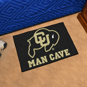 "19"" x 30"" University of Colorado Man Cave Starter Black Rectangle Mat"
