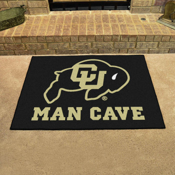 "33.75"" x 42.5"" University of Colorado Man Cave All-Star Black Rectangle Mat"