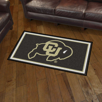3' x 5' University of Colorado Black Rectangle Rug