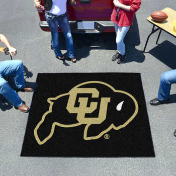 "59.5"" x 71"" University of Colorado Black Tailgater Mat"
