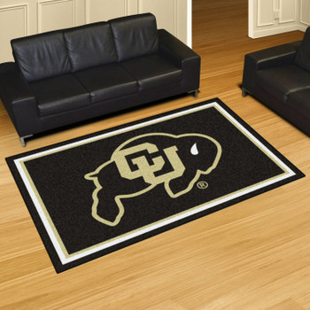 5' x 8' University of Colorado Black Rectangle Rug