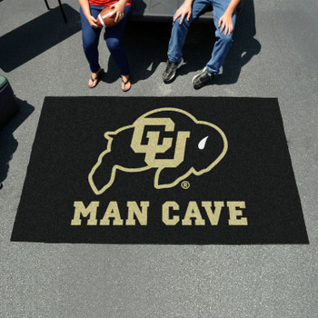 "59.5"" x 94.5"" University of Colorado Man Cave Black Rectangle Ulti Mat"