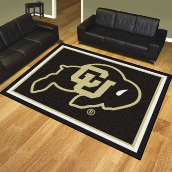 8' x 10' University of Colorado Black Rectangle Rug