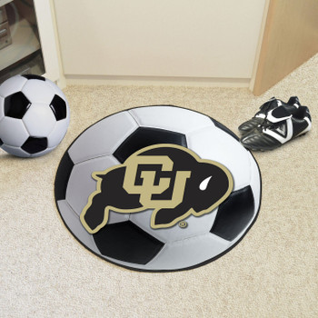 "27"" University of Colorado Soccer Ball Round Mat"
