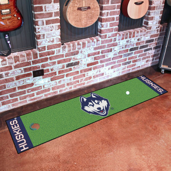 "18"" x 72"" University of Connecticut Putting Green Runner Mat"