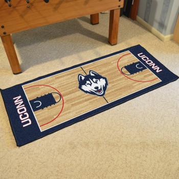 """30"""" x 72"""" University of Connecticut NCAA Basketball Rectangle Runner Mat"""