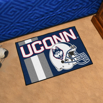 "19"" x 30"" University of Connecticut Uniform Navy Blue Rectangle Starter Mat"