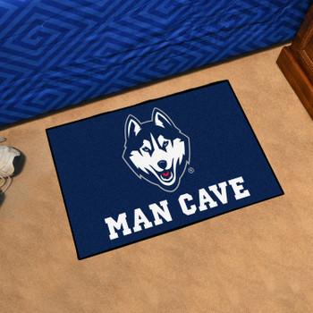 "19"" x 30"" University of Connecticut Man Cave Starter Navy Blue Rectangle Mat"