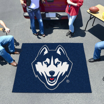 "59.5"" x 71"" University of Connecticut Navy Blue Tailgater Mat"