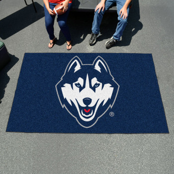 "59.5"" x 94.5"" University of Connecticut Navy Blue Rectangle Ulti Mat"