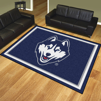 8' x 10' University of Connecticut Navy Blue Rectangle Rug
