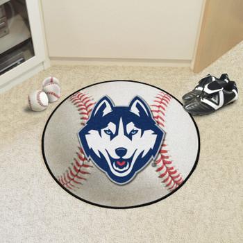 "27"" University of Connecticut Baseball Style Round Mat"