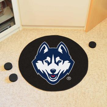"27"" University of Connecticut Puck Round Mat - ""Husky"" Logo"