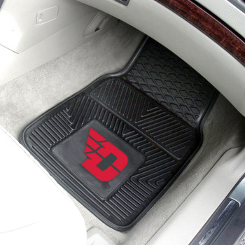 University of Dayton Heavy Duty Vinyl Front Black Car Mat, Set of 2