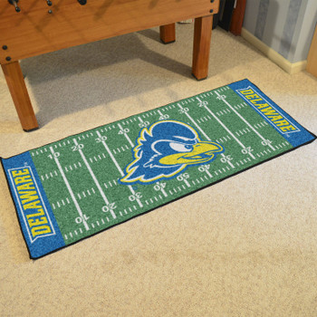 "30"" x 72"" University of Delaware Football Field Rectangle Runner Mat"