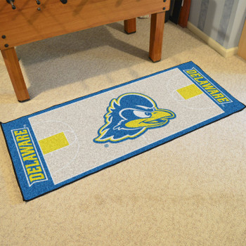 "30"" x 72"" University of Delaware NCAA Basketball Rectangle Runner Mat"