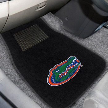 University of Florida Embroidered Black Car Mat, Set of 2