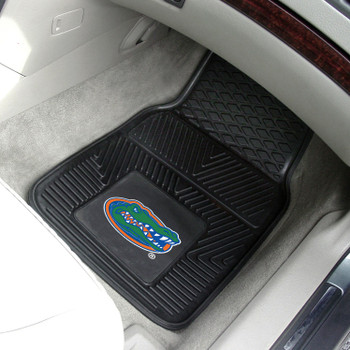 University of Florida Heavy Duty Vinyl Front Black Car Mat, Set of 2