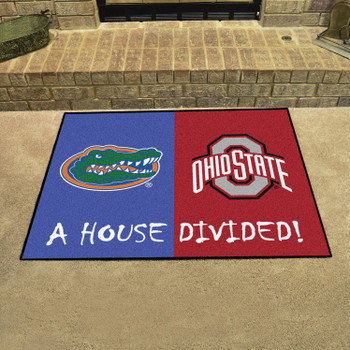 "33.75"" x 42.5"" Florida / Ohio State House Divided Rectangle Mat"