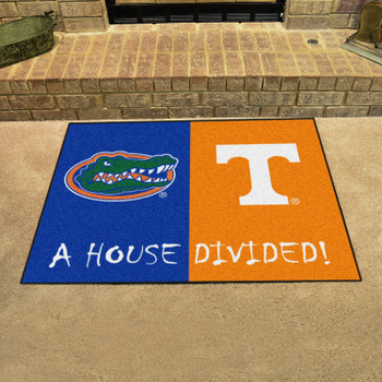"33.75"" x 42.5"" Florida / Tennessee House Divided Rectangle Mat"