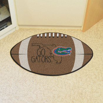"20.5"" x 32.5"" University of Florida Southern Style Football Shape Mat"