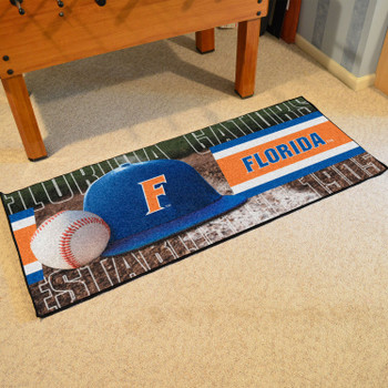 "30"" x 72"" Florida Baseball Style Rectangle Runner Mat"