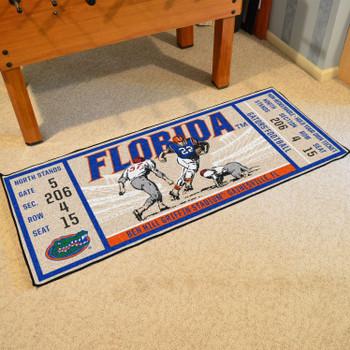 "30"" x 72"" University of Florida Ticket Rectangle Runner Mat"