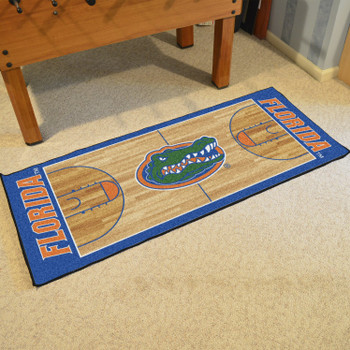 "30"" x 72"" University of Florida NCAA Basketball Rectangle Runner Mat"