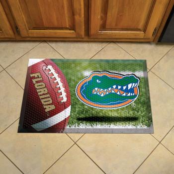 "19"" x 30"" University of Florida Rectangle Scraper Mat - ""Gator"" Logo"