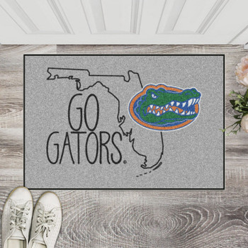 "19"" x 30"" University of Florida Southern Style Gray Rectangle Starter Mat"