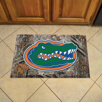 "19"" x 30"" University of Florida Rectangle Camo Scraper Mat - ""Gator"" Logo"