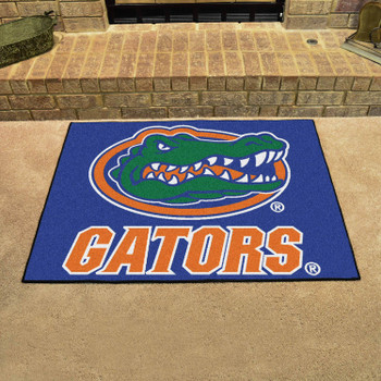 "33.75"" x 42.5"" University of Florida Gators All Star Blue Rectangle Mat"